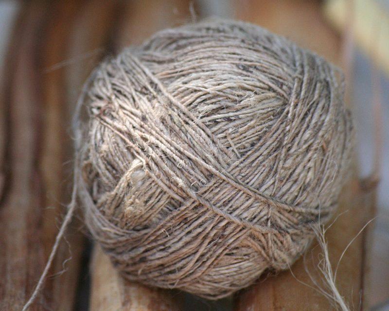 bobine d'ortie- Fibres sauvages- pour corder filer carder tisser